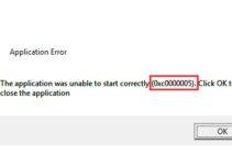 Application Error 0xc0000005