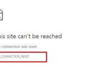 ERR_CONNECTION_RESET Error in Chrome