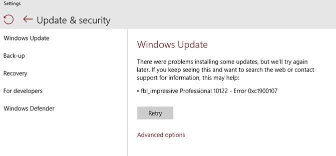 [SOLVED] Error Code 0xc1900107 on Windows 10